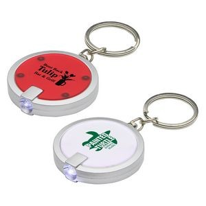 Round Simple Touch LED Key Chain